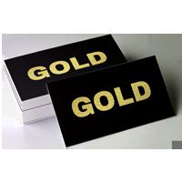 wizytówki złote
