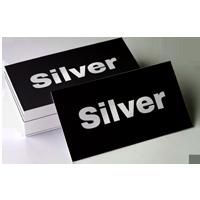 wizytówki srebrne